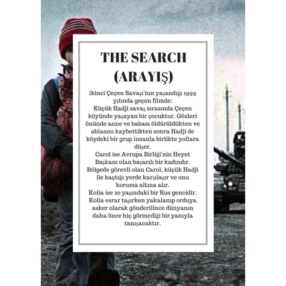 Film Gösterimi: The Search (Arayış)