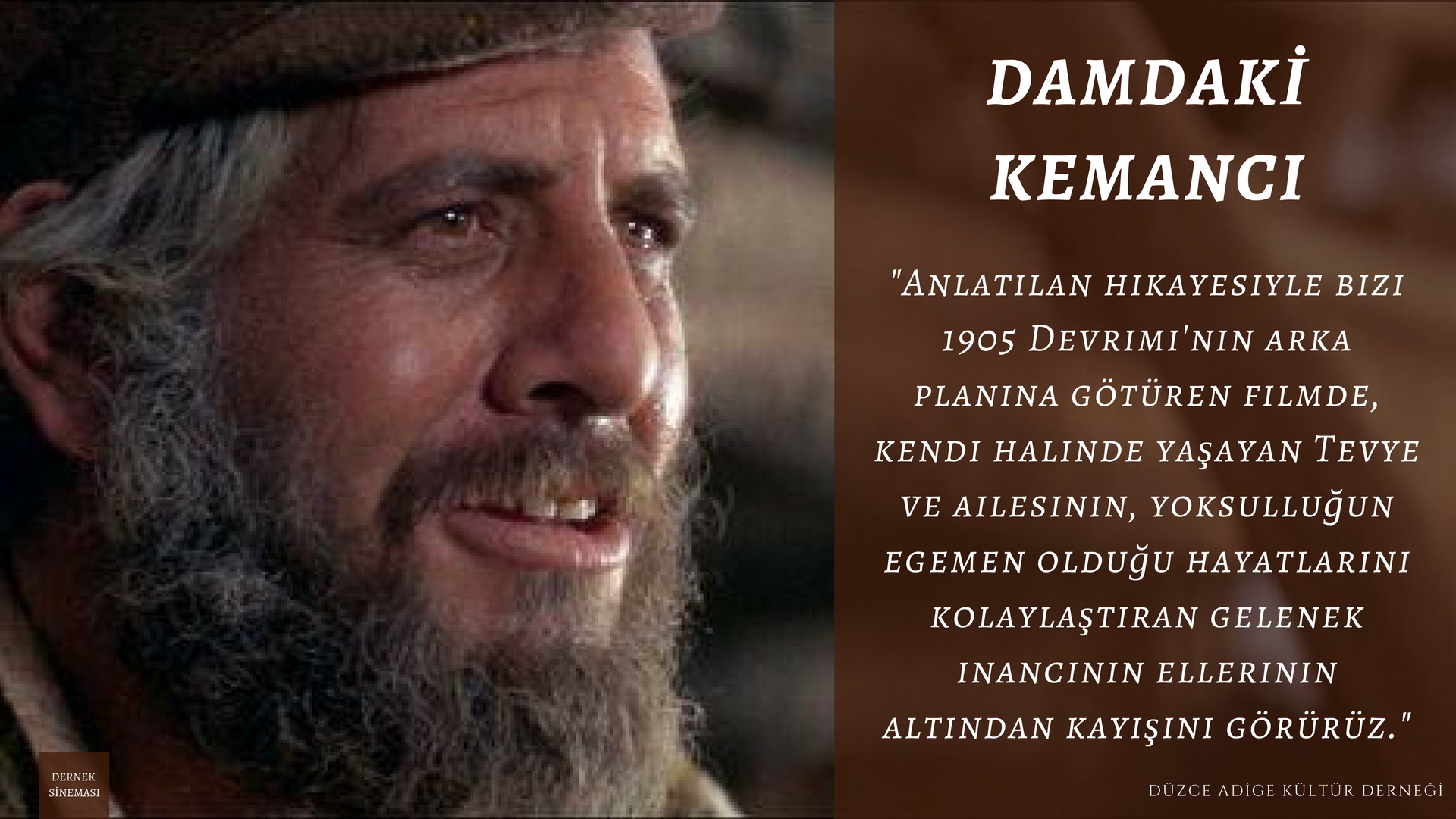 Film Gösterimi: Fiddler On The Roof (Damdaki Kemancı)